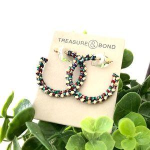 Nordstrom Treasure & Bond Rainbow Hoop earrings